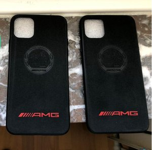 iPhone Caso Suede Pele AMG Motorsport Racing Car Para 11 Pro Max XS Max XR 8 7 6 Samsung Nota 10 PLUS S10
