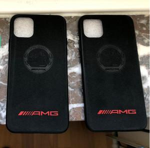 Caso de gamuza de piel AMG Motorsport coches de carreras para iPhone 11 Pro Max Max XS XR 8 7 6 Samsung Nota 10 Plus S10