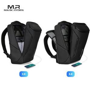 Марк Райден Анти-Вор Мода Мужчины Рюкзак Многофункциональный водонепроницаемый 15,6-дюймовый ноутбук сумка Человек USB зарядный мешок перемещения бизнеса