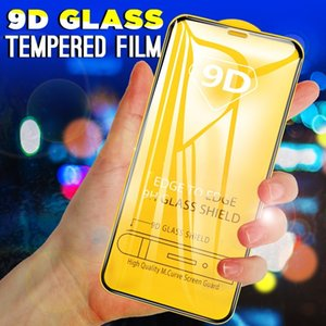 9D Tempered Glass for IPhone 11 11Pro 11 ProMax X Xs XR XSMax 7P 8P 7 8 Front Screen Protector Full-screen Protective Steel Film