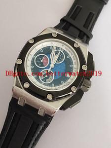Vendita di orologi da uomo T op qualità N8 Factory 44mm 26078RO Cinturini in pelle nera VK Cronografo al quarzo da lavoro Orologi da uomo