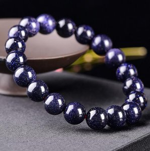 10 мм натуральный материал энергии камни синий авантюрин браслеты круглые бусины браслет для розовый женщины кристалл кварца ювелирные изделия любовь подарок