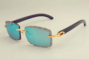 2019 البيع المباشر الجديدة الشحن مجانا النظارات الشمسية الساخنة 8300915 قرون الأسود الطبيعي جدا النظارات، والماس الفاخرة مظلات للجنسين، والعرف الخاص