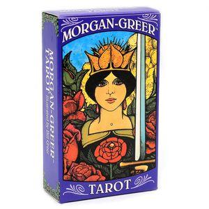 Morgan Greer mazzo di tarocchi English Carte di Bill F Greer Based on Rider-Waite Tarot 78-Card Deck Gioco giocattolo Divinazione