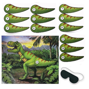 Jogo Da Etiqueta Da Festa de Aniversário Criativo Novo Estilo Dinossauro Poster Fundo de Estágio Arranjo de Parede Adesivos de Venda Direta Da Fábrica 7 5dy p1