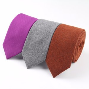 Soft Mens Fashion Diamond Check Artificial Wool Cotton Solid Neck Tie Set Skinny Ties Men Business Small Ties Designer Cravat
