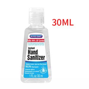 30ml Mini instantâneo Mão desinfectante 75% de álcool Mãos limpeza profunda Sanitizer Gel Anti bactérias Soap Mão desinfecção Atacado DBC BH3204