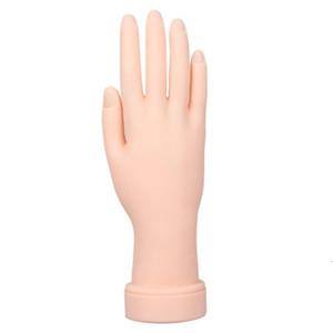 Gel de sílica flexível modelo de mão direita Nail Art Practice Training Manicure Tools