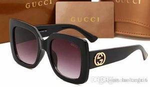 2019 hochwertige l weibliche Sonnenbrille neue Art und Weise Sonnenbrille Full-Frame UV400 Objektiv 0083