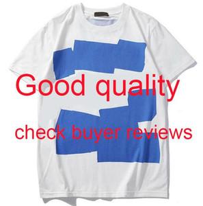 Мужская рубашка лета Люди вскользь Tshirts Горячие продажи футболки для мужчин Женщины с коротким рукавом майка Одежда Письмо с печатным рисунком Tees Crew Neck