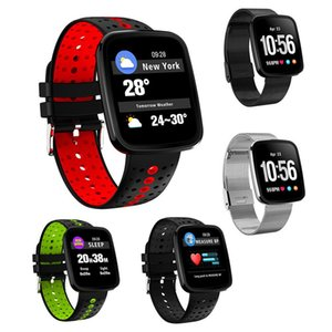 V6 Montre Smart Watch Coeur De La Pression Artérielle Moniteur De Fréquence Sport Tracker Smart Montre-Bracelet IP67 Bluetooth Météo Smart Bracelet Pour iPhone Android