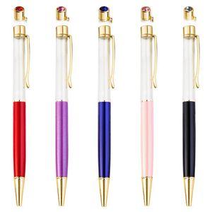 New DIY Cristal Pen Tubo vazio feitas à mão-Supplies Diamante canetas esferográficas Stationery Ballpen novidade presente secretaria da escola