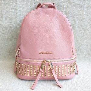 Couro Designer-Backpack Mulheres Oil Wax Boston Rivet Patent Messenger Bags Designer Shoulder Bag Feminino Tote Bolsos Mujer # 227