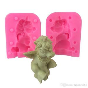 Новый творческий Bao Li свеча руководство DIY ручной работы мыло леденец выпечки Торт животных плесень 3D Единорог силиконовые формы кухонные инструменты 18tq