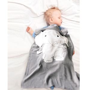 Couvertures bébé nouveau-né Elephant Cartoon couverture tricotée chaud épais enfants d'été doux Couvertures Literie 70 * 110cm MMA2016-6