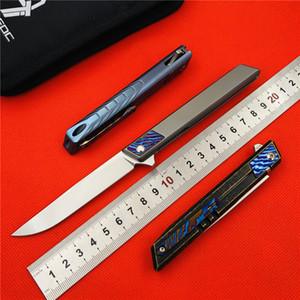 Livraison gratuite, 9 TiEDC Djinn original un alliage de titane poignée de couteau pliant couteau en plein air couteau pliant M390 en acier outil de camping gadget