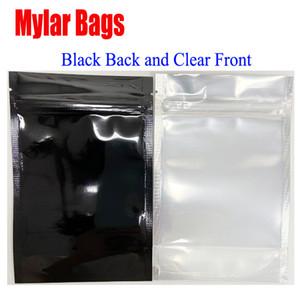 Multi função preto Limpar Resealable Mylar Bag Food Packaging stand up pouch zip lock sacos plásticos Cheiro saco de prova para a seco Herb Flower