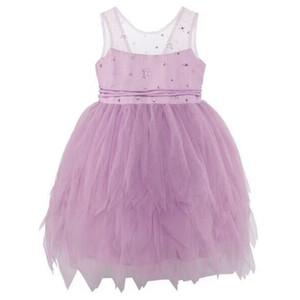Vieeoease Girls Dress Kids Clothing 2020 Summer Fashion Sleeveless Vest Lace Tutu Princess Party Dress CC-683