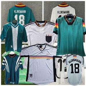Retro Germania 1988 1990 1992 1994 1996 1998 2004 calcio maglie casa KLOSE MULLER PODOLSKI Klinsmann MATTHAUS via la camicia di calcio retrò