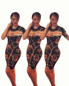 Robe imprimée Printemps Mode Bodycorn Bee Designer Robes Femmes Nouvelle Reine