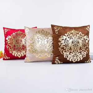 throw pillow cushion Cover Floral Gold Velvet Luxury Pillow Case for Sofa Bed Vintage Pillow Covers Soft Home Decor 45*45cm