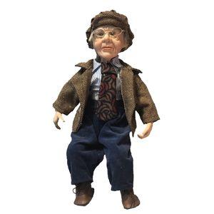 Gentleman stand 45 centimetri Porcelain Doll da collezione nonno Figurine
