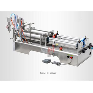Máquina de llenado cuantitativa comercial de la leche del vino del jugo de la bebida neumática comercial máquina de rellenar líquida de la cabeza doble del acero inoxidable
