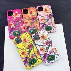 cajas del teléfono del diseñador para el iPhone 11Pro Max XR XS 6/7/8 además PU Modelos de manera móvil piel para Samsung S9 S10 NOTA 9 10 PLUS casos