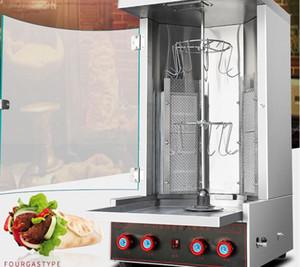 La dinde économique Barbecue automatique machine à viande rôtie Quatre commandes dinde barbecue machine à rôtir porc machine barbecue à gaz cuisinière