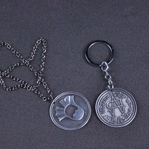 Game of Thrones Faceless Coin KeyChain Collier A Song of Ice and Fire Valar de Jaqen H'ghar Aaliyah Badge cosplay GiftJewelry