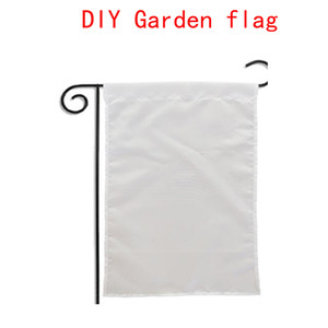 Sublimation Blank Garten Flagge Amerikanische Garten Flaggen Hitze Tranfer Druck Garten Banner leer Banner Größe 30 * 45cm