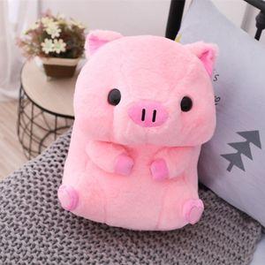 40cm Encantador Cute Pig Round Plush Toy Cute Animal Doll Baby Pig Boy Pillow Girl Christmas Present Birthday Present