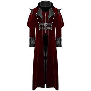 Vestes pour hommes Monerffi Classic Cosplay Cosplay Vampe Veste Solide Long Veste Costume Homme Slim Belge Hommes Manches Fashion Sleeve Cos