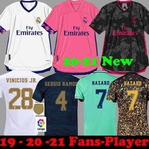 Tayland 20 21 TEHLİKESİ Real Madrid futbol formaları 2020 2021 camiseta çocuklar RM JOVIC Balya RODRYGO Sergio Ramos Futbol Gömlek EA Setleri 19 20
