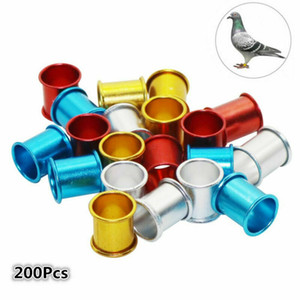 Bandas de aluminio 200pcs de identificación de aves de corral de la pierna de la paloma anillos de aves de 8 mm Nuevos