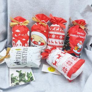 5 piezas Bolsas de envoltura de fiesta temática de Navidad Baby Shower Candy Chocolate Gift Bag Kids Favors Home Party Decoration Supplies