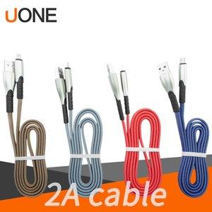1M 3F Micro USB Data Sync 2A Câble cordon en nylon tressé de type durable C Port Flat Luxury Design pour Samsung S11 S10 S9 S8 plus LG charge Smar