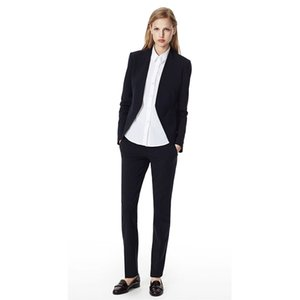 Women Pant Suits 2020 Black Notch Lapel Ladies Business Office Formal Tuxedos Jacket+pants Womens Designer 2 Piece Suit Custo