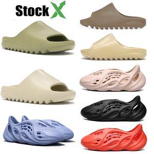 Top-Qualität 2020 Slides Designer Damen Herren Luxus kanye west Pantoffeln Foam Runner Kinder Kinder Marke Sandalen Slipper Resin Sand Schuhe