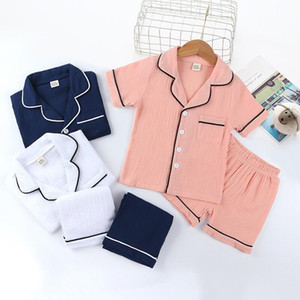 Children pajamas set summer sleepwear home clothes Kids Set shirt shorts two-piece suit Girls Boy Boutique clothing For Baby 3 Color CZ702