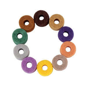 Set drum cymbals mat color mixed packed in 20pcs