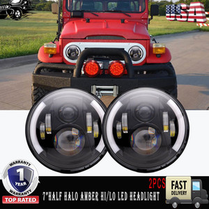 "7inch Yuvarlak LED Far 7"" Projektör Far İçin Jeep Wrangler Hummer lada niva 4x4 Kamyon Suzuki Samurai"