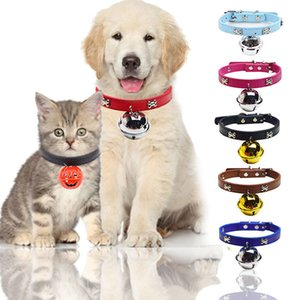 Dog Collar Bone Collar Big Bell 4cm 7COLOR Cute Super Cute Wearable Leash Pet Dog Cat Accessories