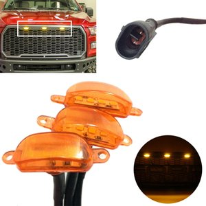 2015 2016 2017 3adet * Grille LED Işık LED Işık İçin FIT Ford F-150 F 150 Raptor Stil Grille Izgara