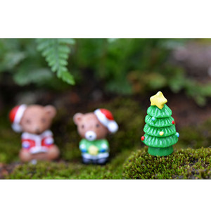 40pcs Christmas Theme Miniature Micro Landscape Craft Resin Bonsai Ornament
