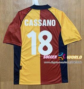 roma Totti Batistuta Cassano Nakata Ev forması En kaliteli boyut S-XXL olarak Retro Roma Soceer forması 2001 02 sezon