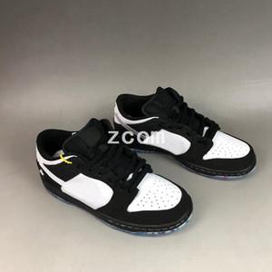 Tasarımcı Zımba x SB Dunk Düşük Koşu Ayakkabıları Dove Panda Siyah Beyaz Ayak Yasağı satım için Dunks Kadın Erkek Eğitmenler Otantik Sneakers