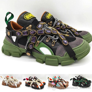 Çıkarılabilir Kristaller Ile Flashtrek Sneaker Erkek Tasarımcı Ayakkabı Rahat Ayakkabılar Moda Lüks Casual Bayan Sneakers Açık Havada Yürüyüş Ayakkabıları