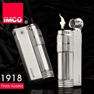 Original IMCO Lighter Windproof Metal Retro Kerosene Flint Lighter Stainless Steel Authentic Lighter Gadgets for Men