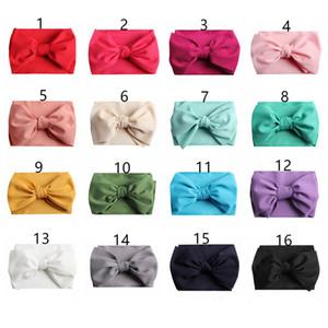 7inch Baby Bows Diademas Bowknot Hair Wraps Nudo de mariposa Multicolor Hairbows Aros para recién nacidos Niños Niñas Party decora 16Color A42202